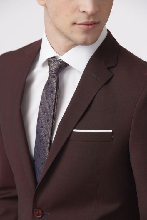 YOUNG Bordo muško odijelo - Slim fit