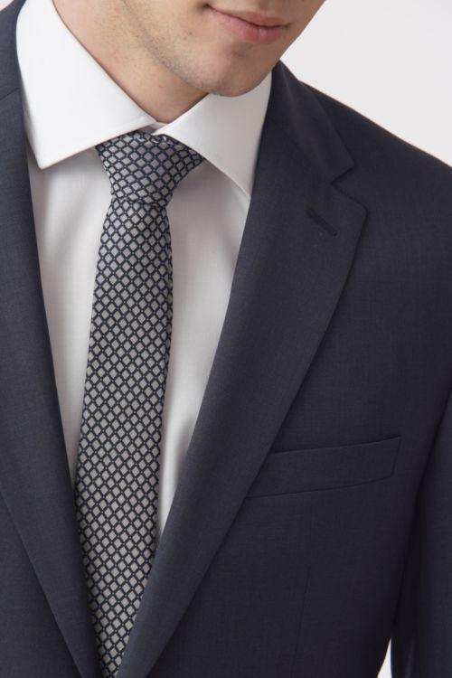 YOUNG Plavo elegantno muško odijelo - Regular fit