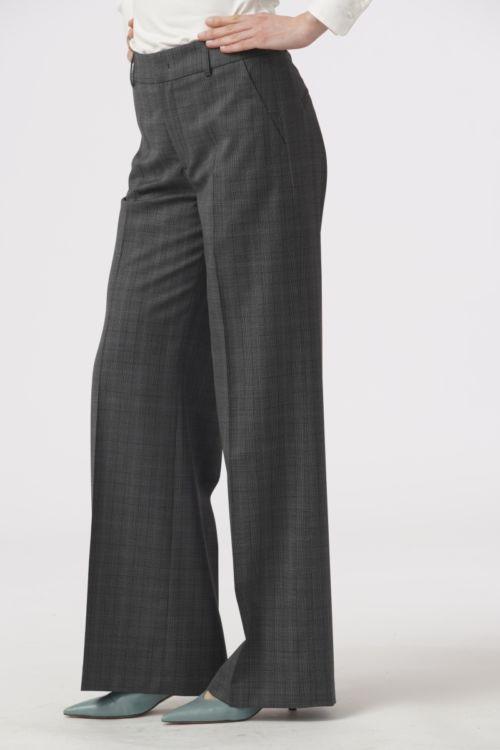 Poslovne hlače s decentnim Prince De Galles uzorkom