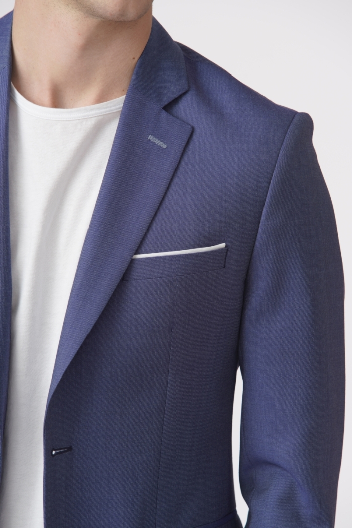 YOUNG Elegant blue jacket with small patterns