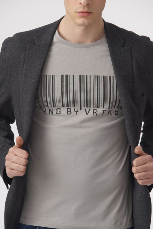 Pamučna muška majica s printom u dvije boje