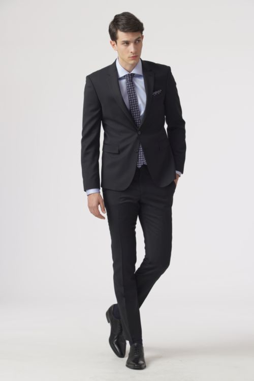Elegantno crno odijelo - Super 120's – Slim fit