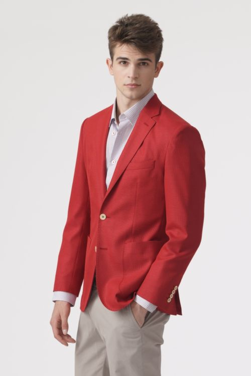 Crveni muški sako - Regular fit