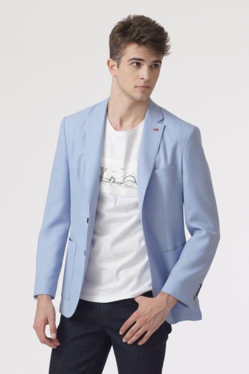 Muški sako u dvije plave boje s detaljem