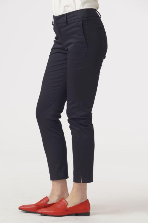 Ženske navy plave 7/8 poslovne hlače