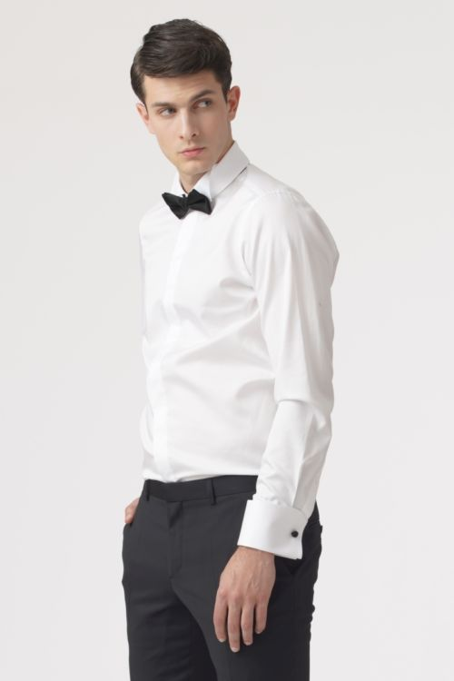 Muška svečana košulja bijele boje s mandžetama