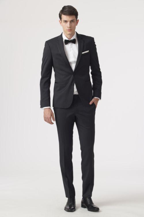 Svečano odijelo sa satenskim umetkom na kragni - Super 120's