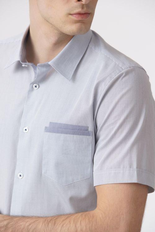 Košulja kratkih rukava sitnog kariranog uzorka