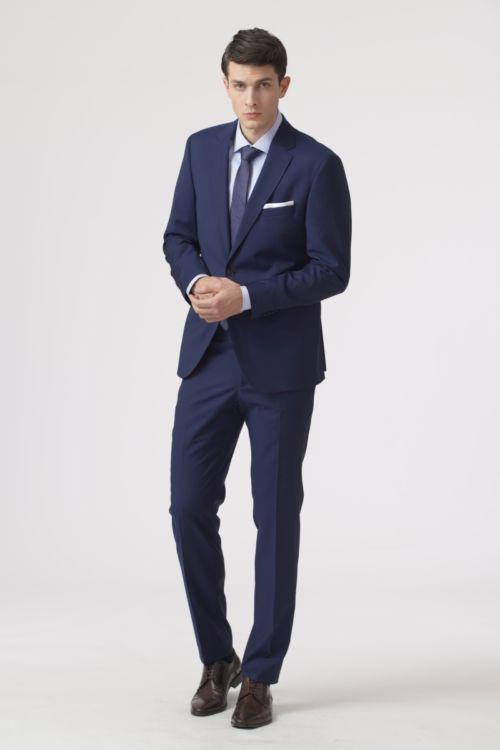 Elegantno tamno plavo odijelo od runske vune - Regular fit