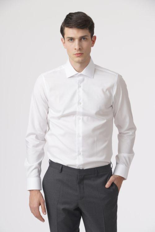 Non iron muška košulja bijele boje Twill 100´s