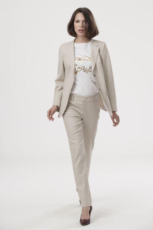 Ženske hlače ravnog kroja u dvije boje