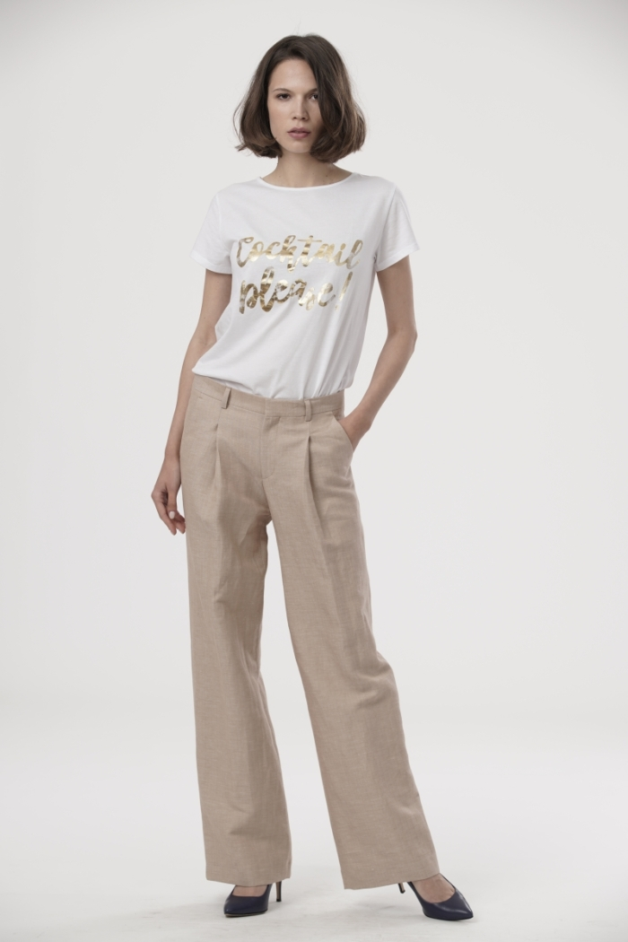 Varteks Women's trousers with a share of linen