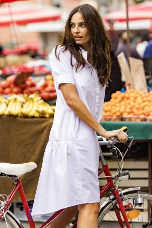Asimetrična ležerna haljina s džepovima u četiri boje