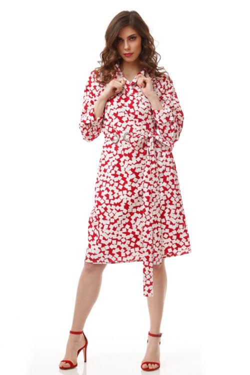 Ženstvena haljina u dvije boje s printom