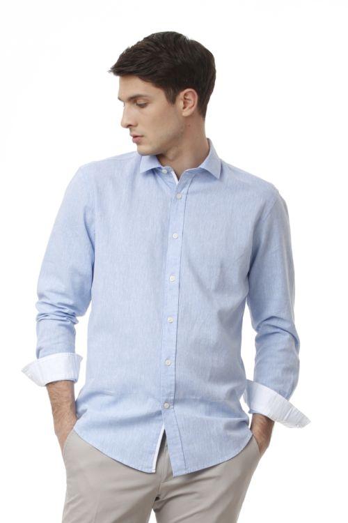 Muška lanena košulja u tri boje