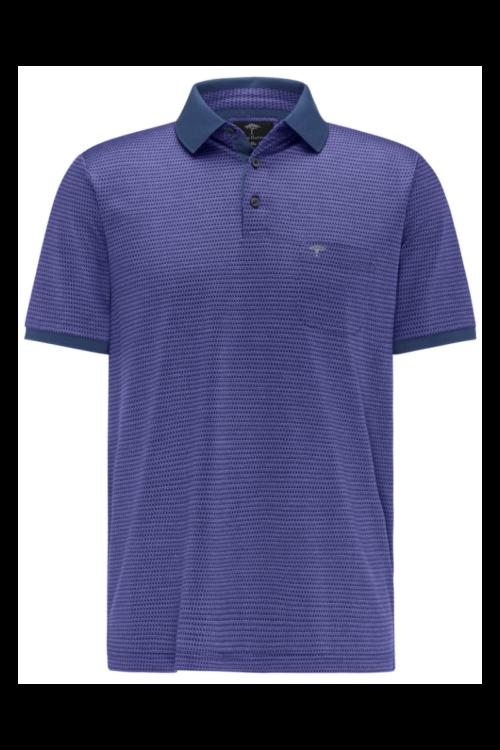 Polo majica tamno plave boje sa strukturom - Fynch Hatton