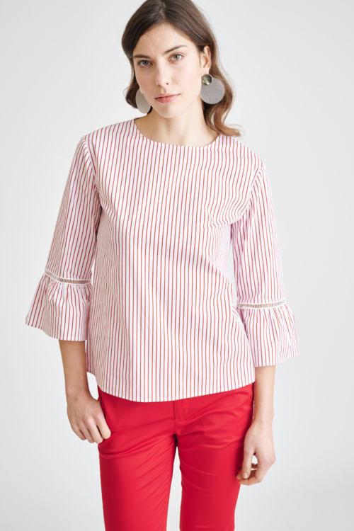 Ženstvena majica s prugama u dvije boje