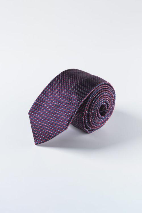 Plavo crvena muška kravata od svile