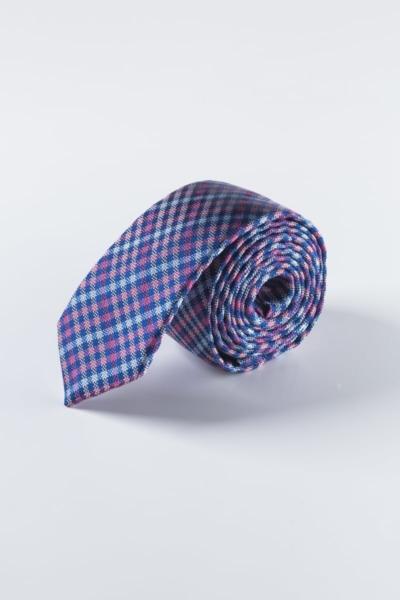 Svilena muška kravata šarenog kariranog uzorka