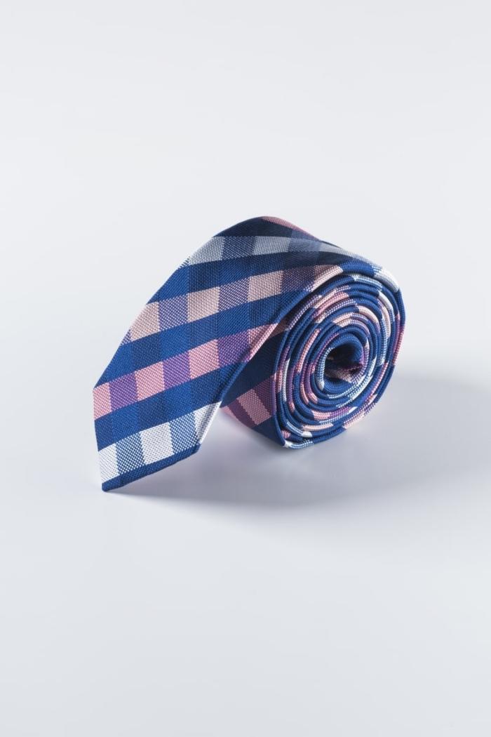 Muška karirana kravata od svile