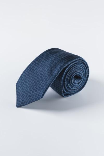 Svilena tamno plava kravata s uzorkom