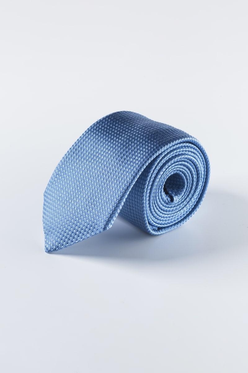Nebesko plava svilena kravata sa strukturom