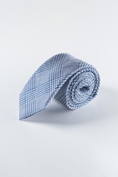 Muška kravata plavog kariranog uzorka