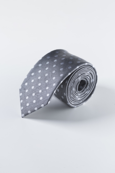 Muška kravata s točkastim uzorkom u dvije boje