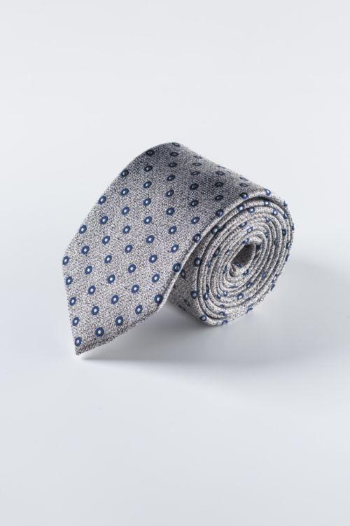 Svilena kravata s točkastim uzorkom u tri boje