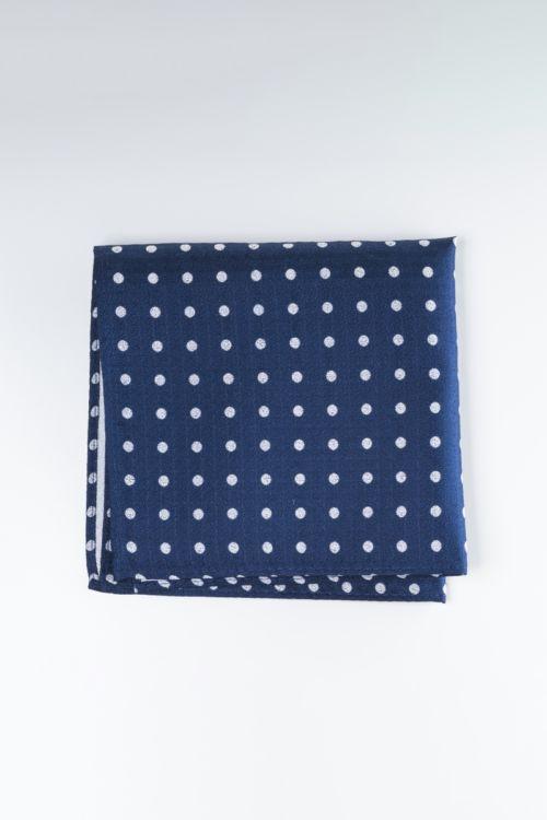 Svilena ukrasna maramica s točkastim uzorkom