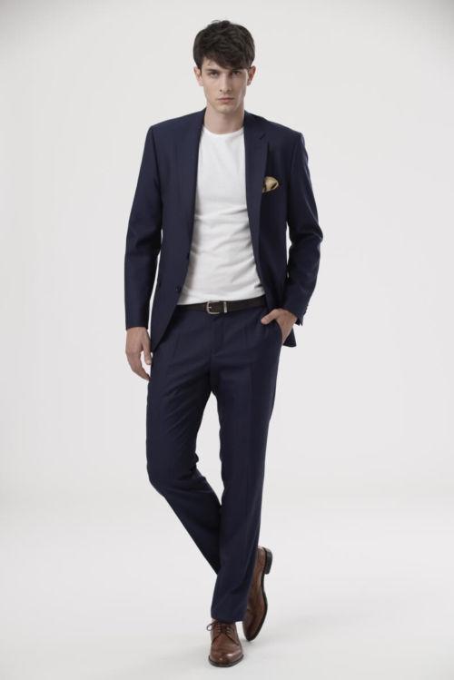 YOUNG Plavo muško odijelo - Regular fit
