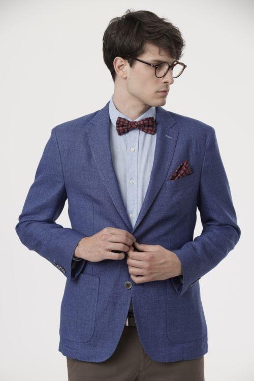 Muški sako u dvije boje s udjelima lana i pamuka