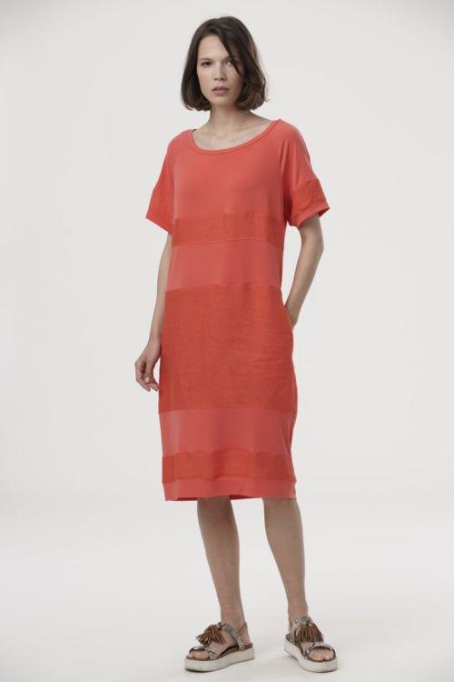 Ležerna lanena haljina s džepovima u tri boje
