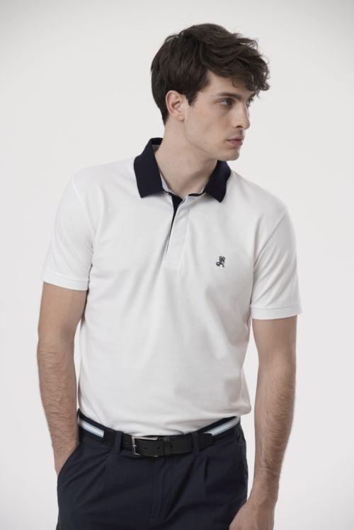 Muška polo majica sa crnom kragnom