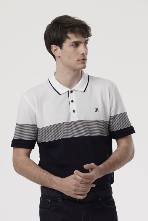 Muška polo majica s kontrasnim uzorkom