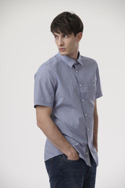 Karirana muška košulja kratkih rukava