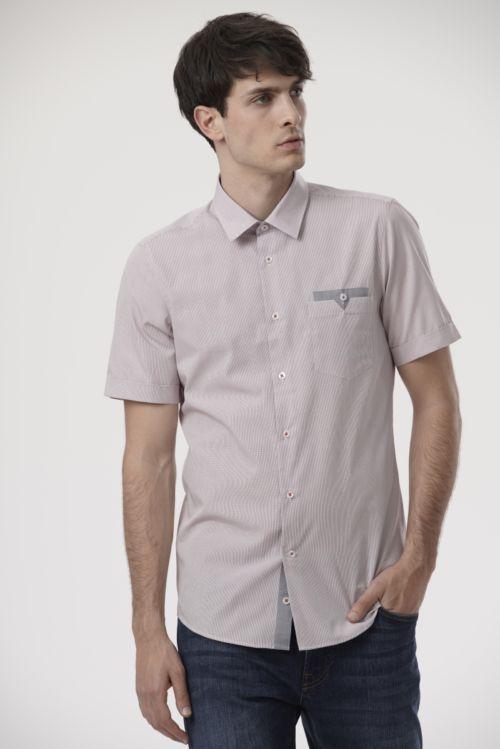 Košulja kratkih rukava s mikro kariranim uzorkom