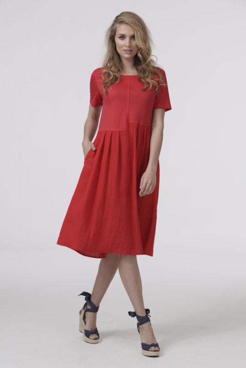 Ženska haljina u dvije upečatljive boje