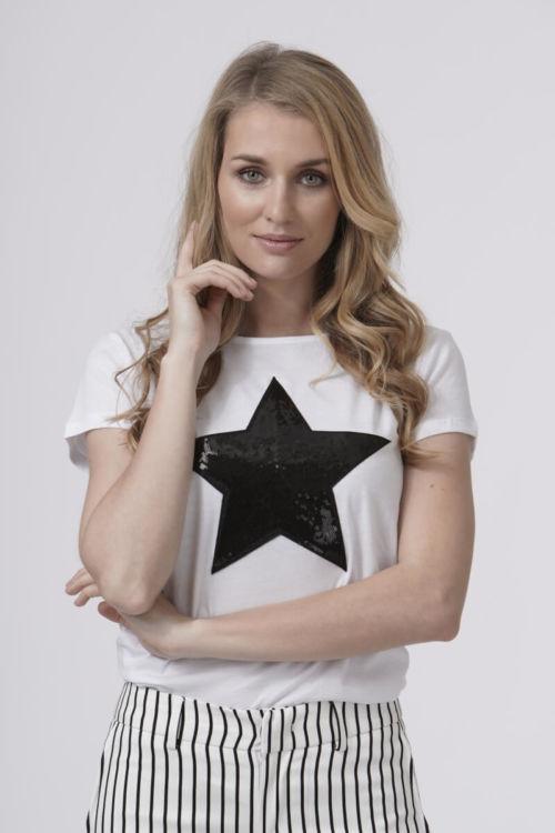Ženska majica u tri boje s uzorkom zvjezde