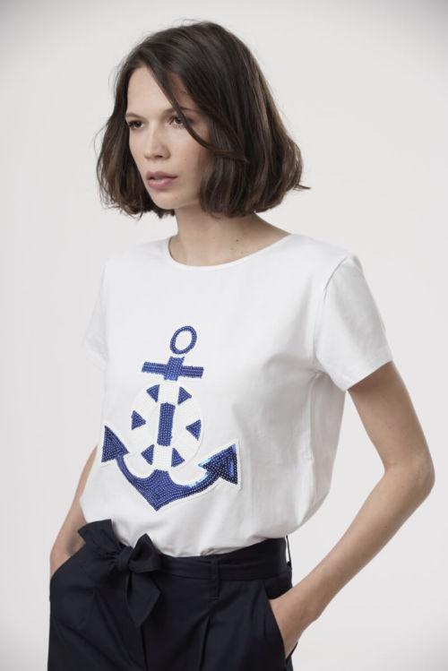 Ženska majica s motivom sidra u dvije boje
