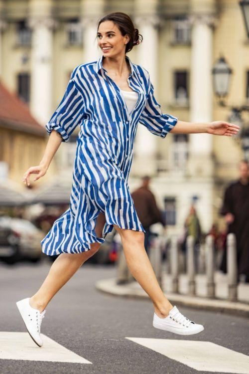 Lepršava ljetna ženska haljina u dvije boje