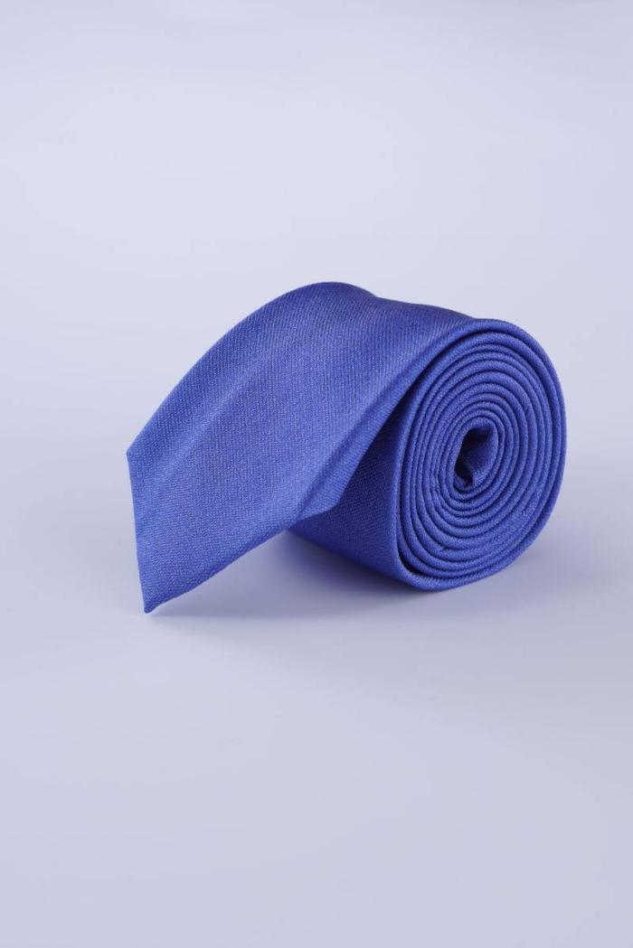 Muška modro plava svilena kravata