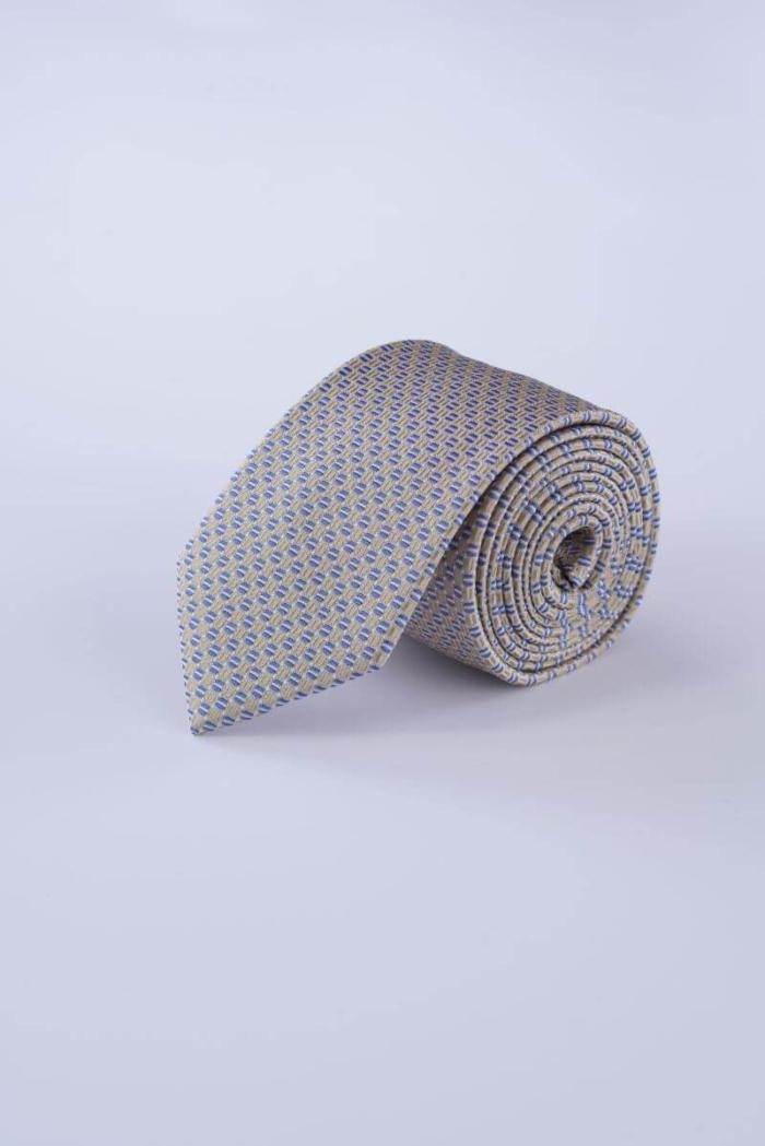 Muška svilena kravata u dvije boje sa sitnim detaljima