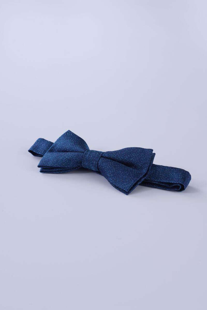 Plava leptir mašna od svile