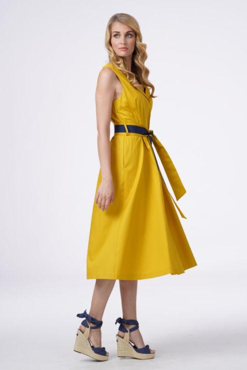 Upečatljiva ženska haljina u dvije boje