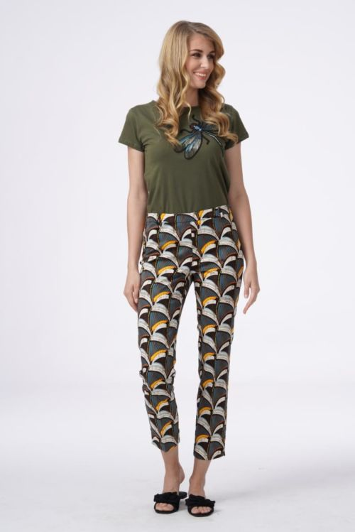 Ženske 7/8 hlače atraktivnog retro uzorka