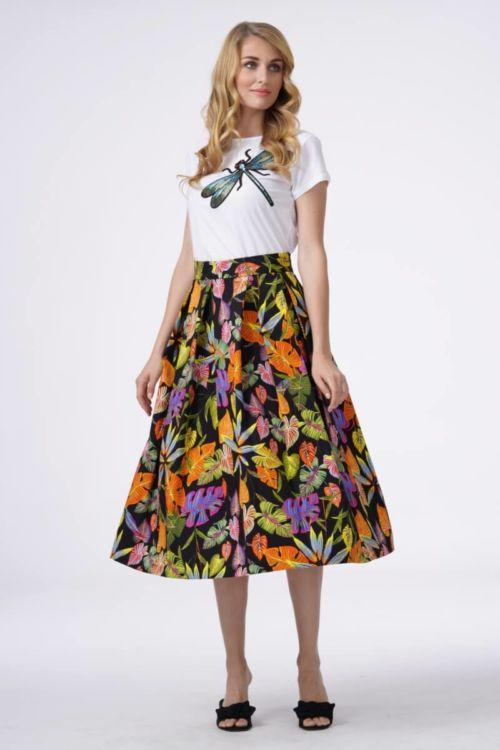 Ljetna ženska suknja šarenog printa