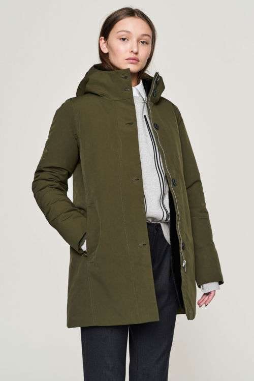 Maslinasto zelena zimska jakna - Elvine