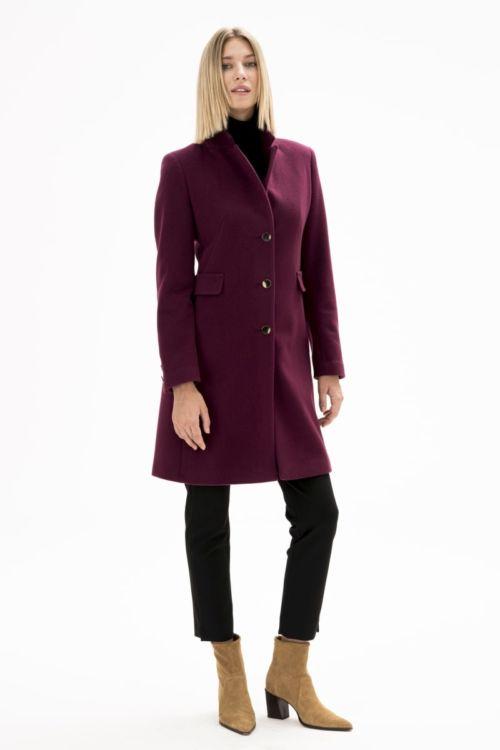 Ženski vuneni kaput s kašmirom u dvije boje