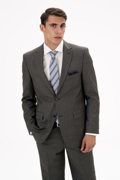 Sivi sako od runske vune - Comfort fit